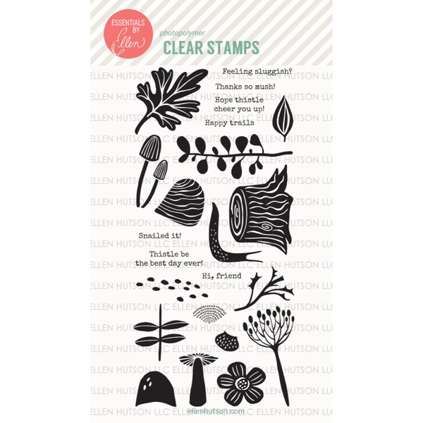 Essentials By Ellen Clear Stamps, Snailed It by Julie Ebersole -