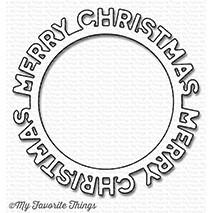 My Favorite Things Die-Namics, Merry Christmas Circle Frame - 849923022436