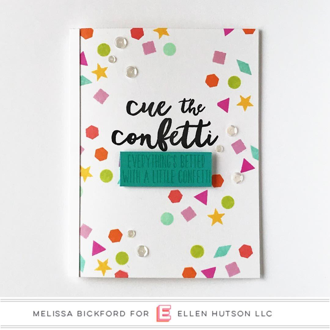Essentials by Ellen Clear Stamps, Cue The Confetti by Julie Ebersole -