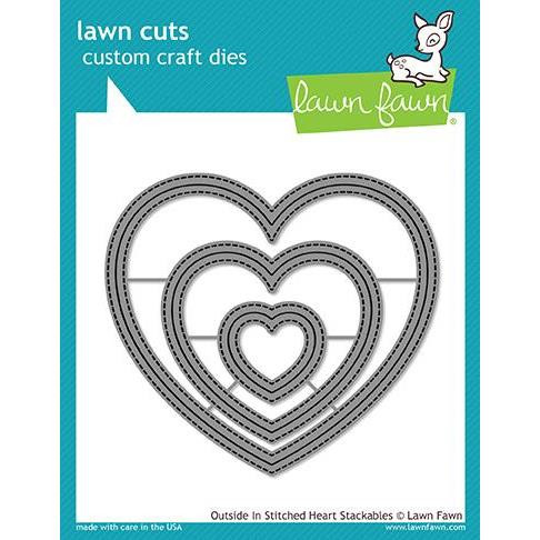 Lawn Cuts Dies, Outside In Stitched Heart Stackables - 035292669208