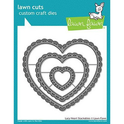 Lawn Cuts Dies, Lacy Heart Stackables - 035292669192
