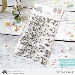 Mama Elephant Clear Stamps, The Dog's Woof -