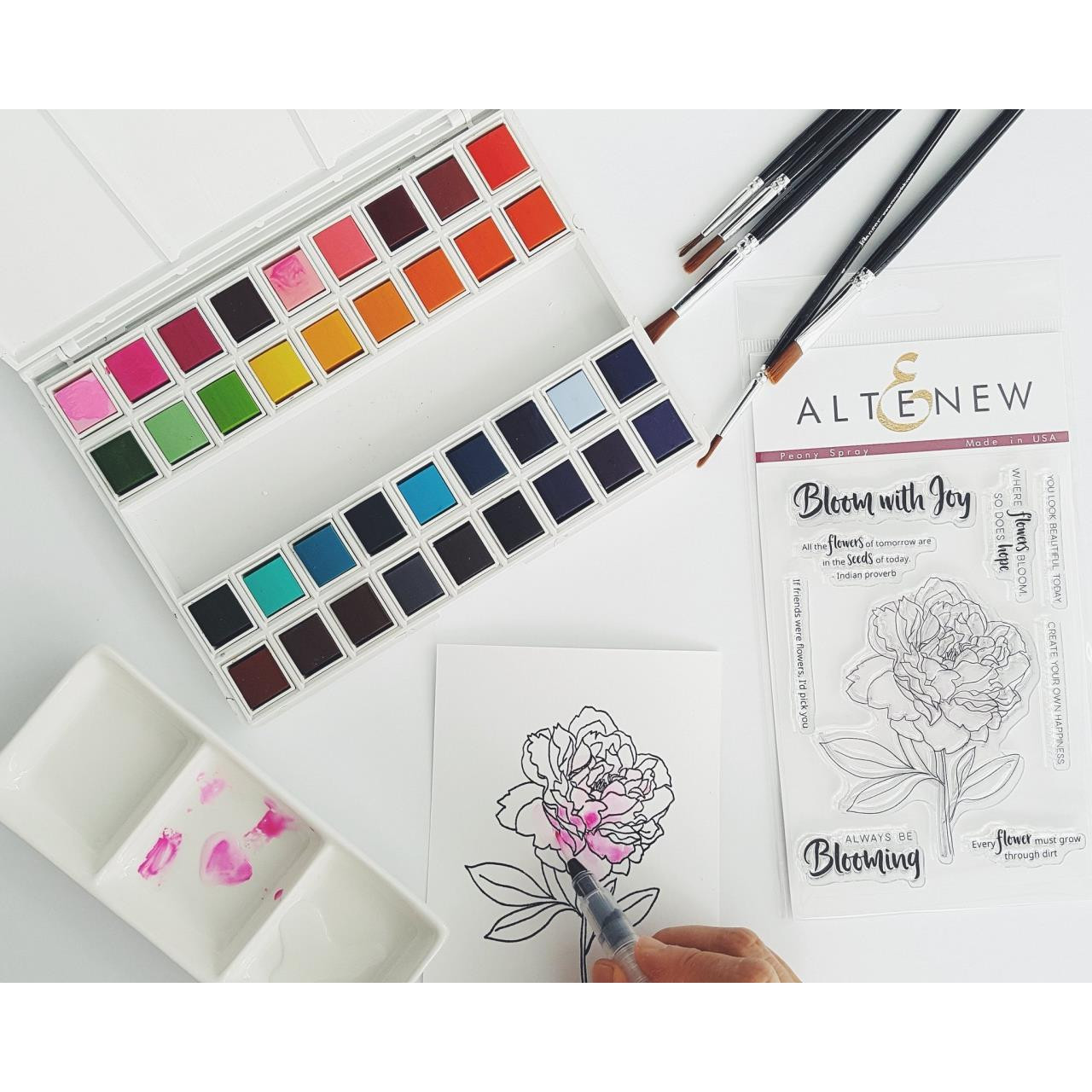 Altenew Watercolor Paint,  36 Pan Set - 655646164298
