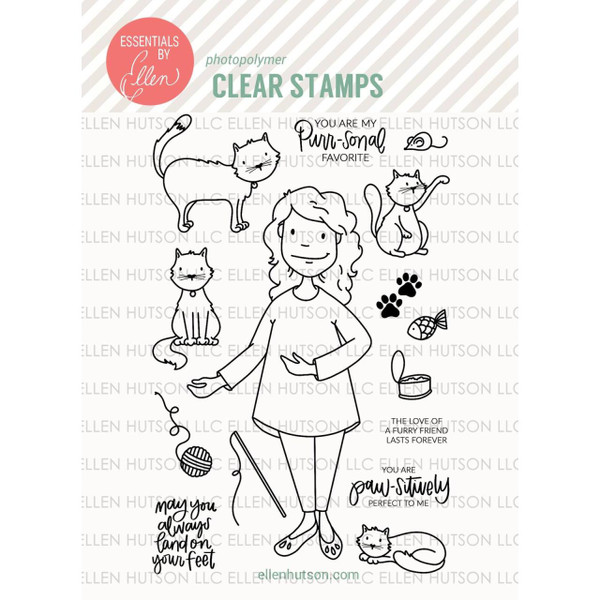 Essentials by Ellen Clear Stamps, Leading Ladies - Cat Lady by Brandi Kincaid -