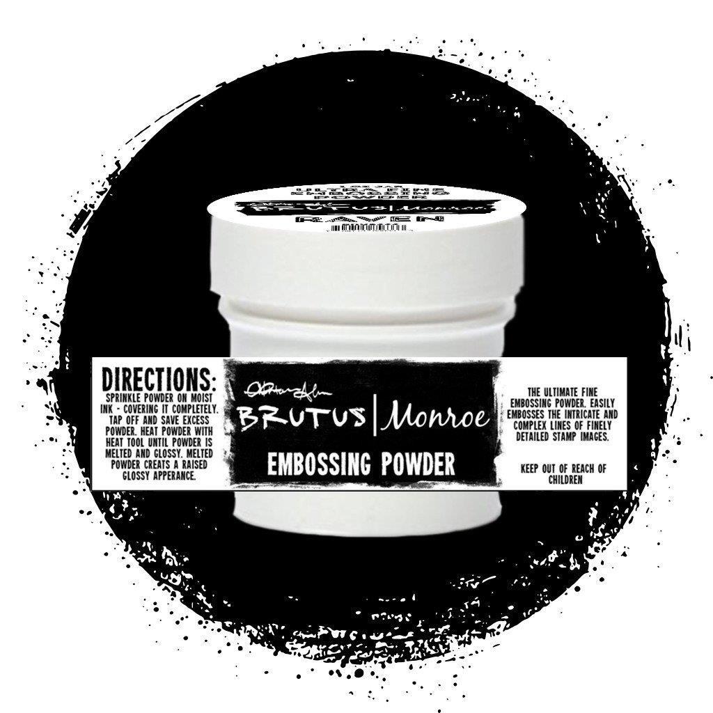 Brutus Monroe Ultra Fine Embossing Powder, Raven -