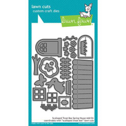 Lawn Cuts Dies, Scalloped Treat Box Spring House Add-On - 035292669628
