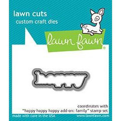 Lawn Cuts Dies, Happy Happy Happy Add-on: Family - 035292669390