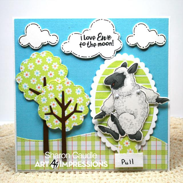Art Impressions Clear Stamps, Sheep Flutter - 750810794049