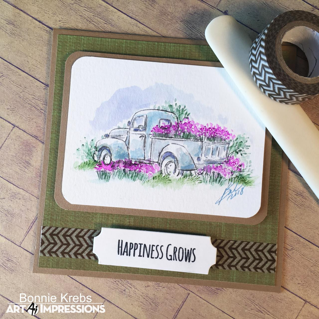 Art Impressions Cling Stamps, Watercolor Truck Mini Set - 750810794438