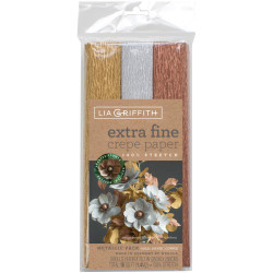 Lia Griffith Extra Fine Crepe Paper, Metallic Assortment - 190705000846