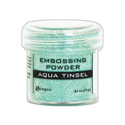 Ranger Embossing Powder, Aqua Tinsel - 789541060413