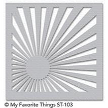 My Favorite Things Stencils, Sunrise Radiating Rays - 849923024522