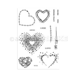 Alexandra Renke Clear Stamps, Hearts Love - 4251412712678