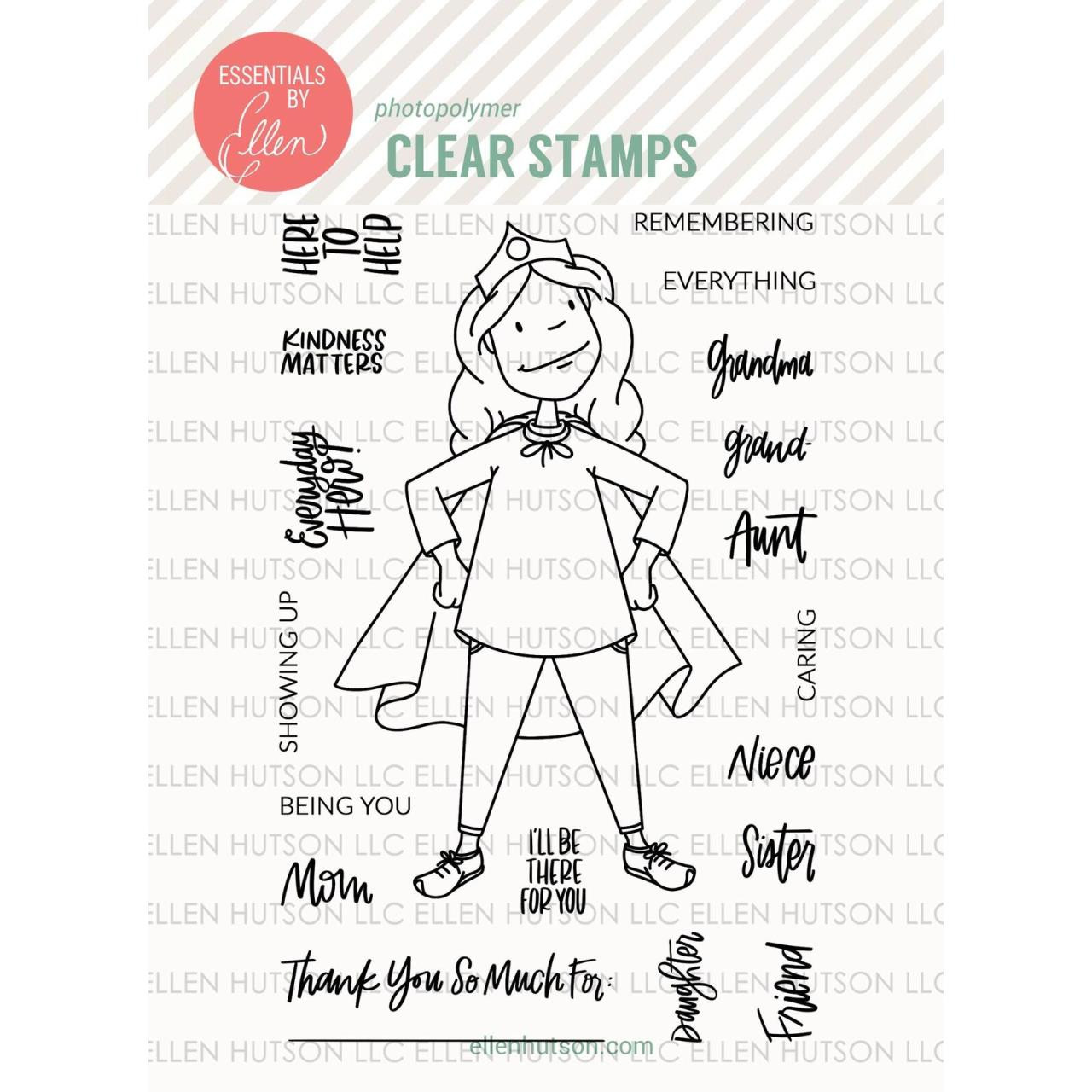 Essentials by Ellen Clear Stamps, Leading Ladies - Everyday Hero Lady By Brandi Kincaid -