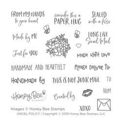 Honey Bee Clear Stamps, Angel Policy - 652827598057