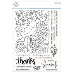 PinkFresh Studio Clear Stamps, Let's Flamingle - 653981533977