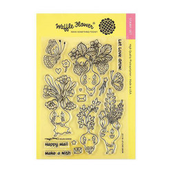 Waffle Flower Clear Stamps, Let Love Grow - 653341232137