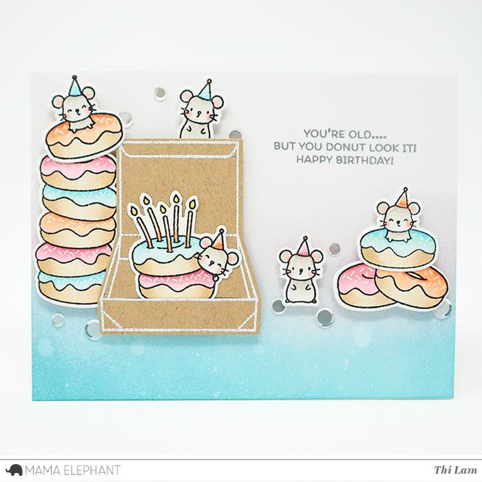 Mama Elephant Clear Stamps, Donut Treats -