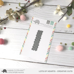 Mama Elephant Creative Cuts, Lots of Hearts -