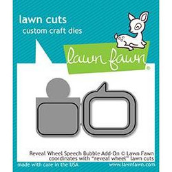 Lawn Cuts Dies, Reveal Wheel Speech Bubble Add-On - 352926704266