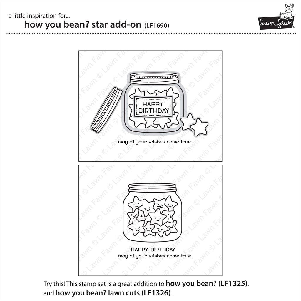 Lawn Fawn Clear Stamps, How You Bean? Star Add-On - 352926703030
