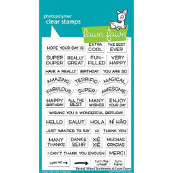 Lawn Fawn Clear Stamps, Reveal Wheel Sentiments - 352926704198