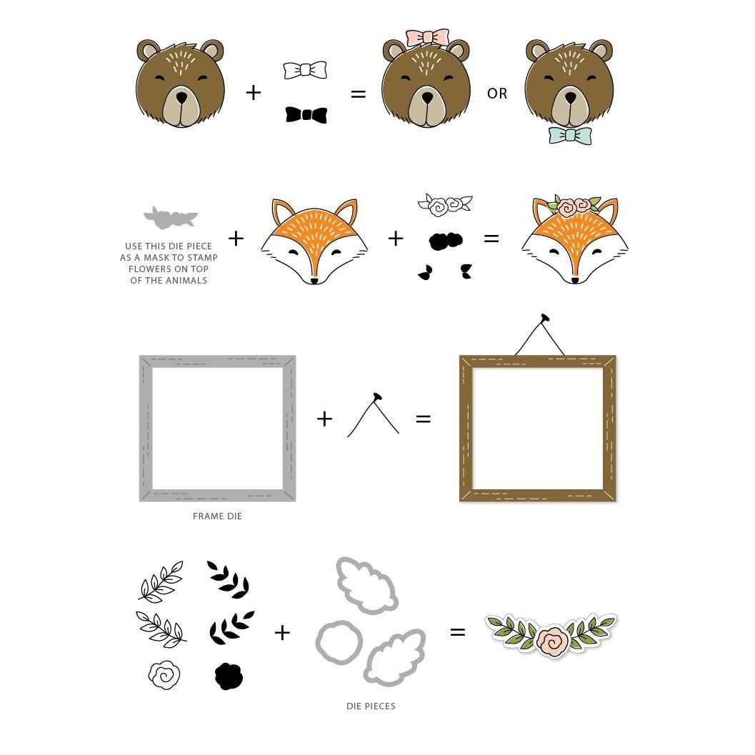 Concord & 9th Clear Stamps, Furry Friends - 902223990208