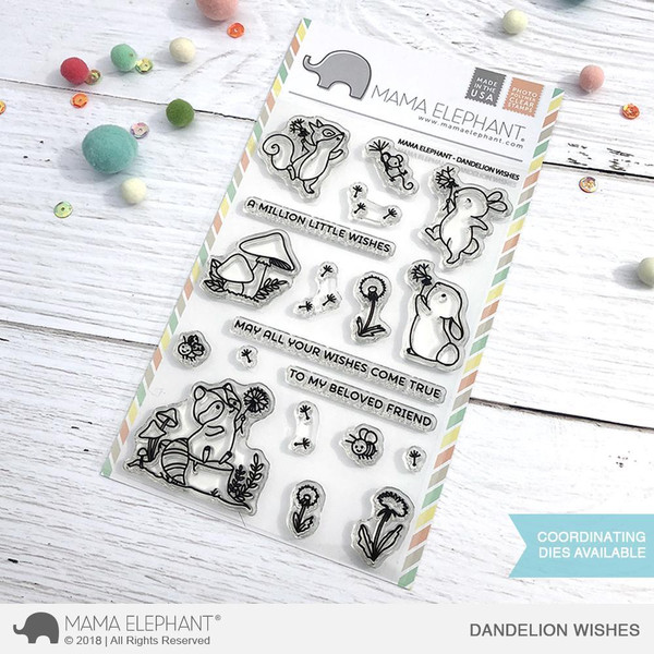 Mama Elephant Clear Stamps, Dandelion Wishes -