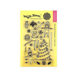 Waffle Flower Clear Stamps, Deck The Halls - 653341232236