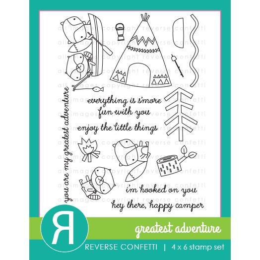 Reverse Confetti Clear Stamps, Greatest Adventure -