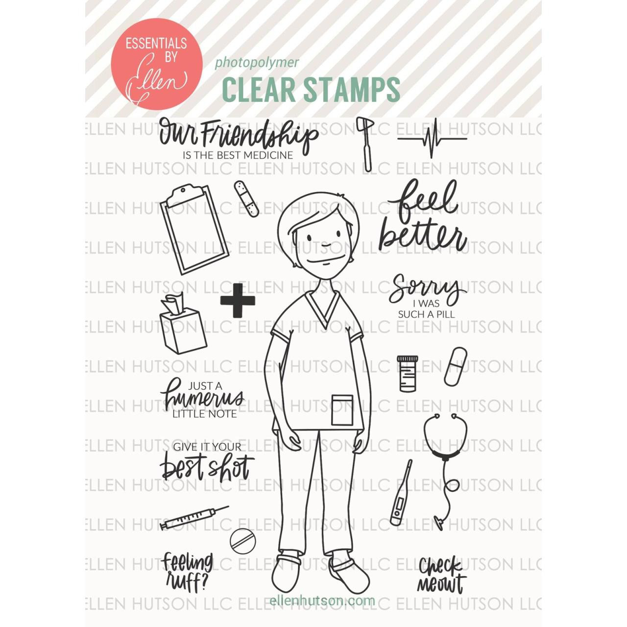 Essentials By Ellen Clear Stamps, Leading Ladies - Medical Lady By Brandi Kincaid -