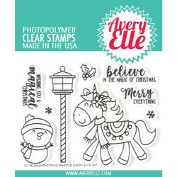 Avery Elle Clear Stamps, Christmas Magic - 811568026957