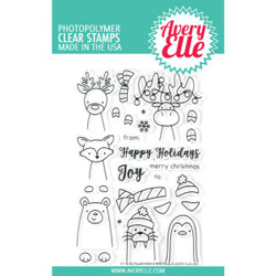 Avery Elle Clear Stamps, Polar Peek-A-Boo Pals - 811568026971