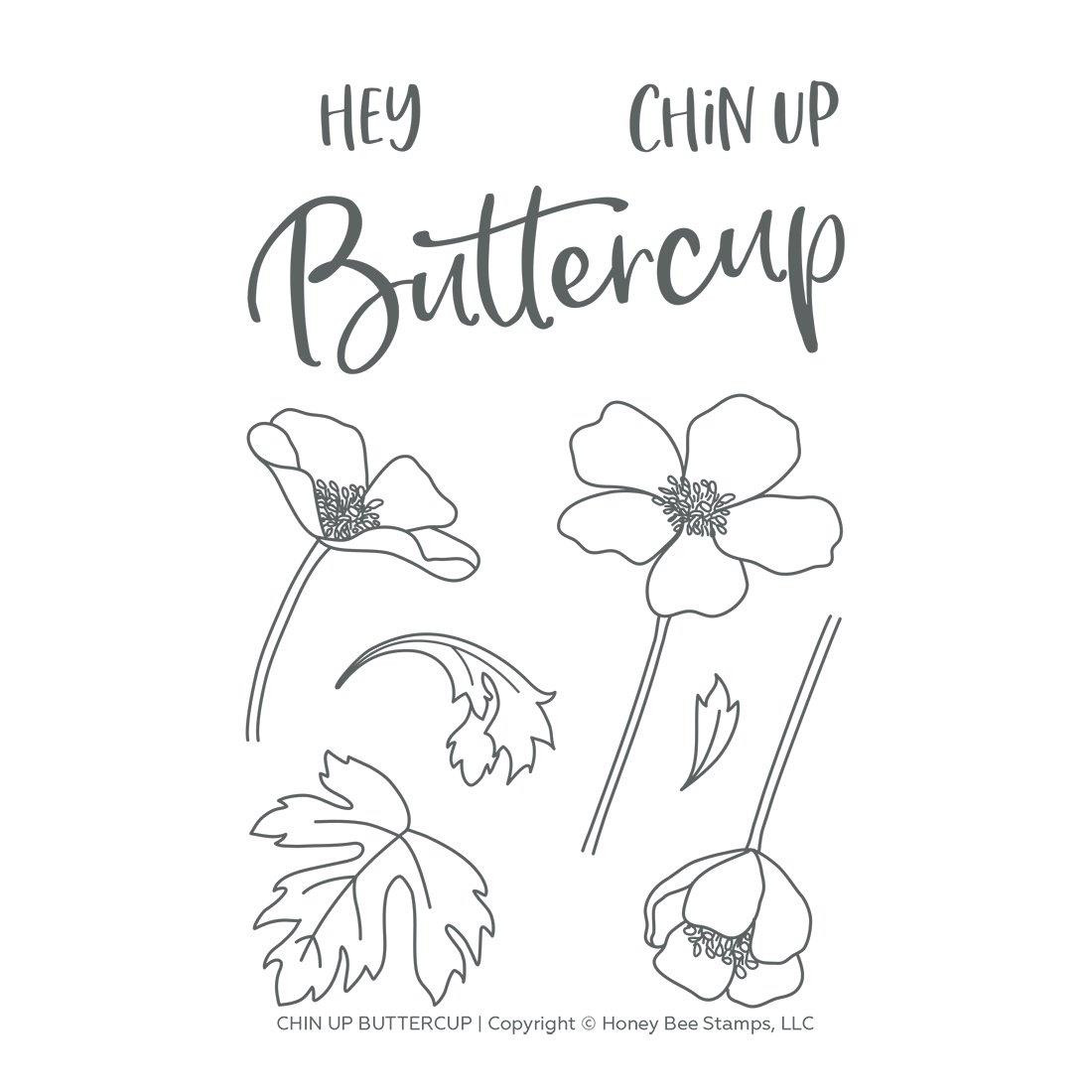 Chin Up Buttercup, Honey Bee Clear Stamps -