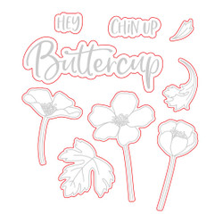 Chin Up Buttercup, Honey Cuts Dies -