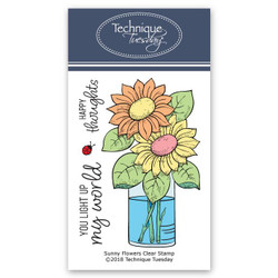 Sunny Flowers August 2018, Technique Tuesday Greenhouse Society Clear Stamp Program - 811784027004