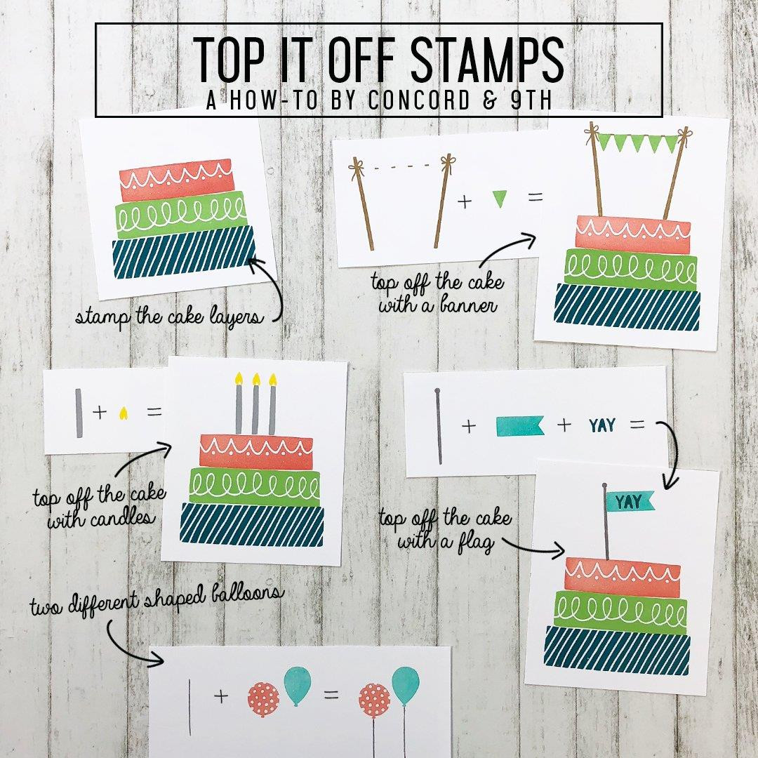 Top It Off, Concord & 9th Clear Stamps - 902223992042