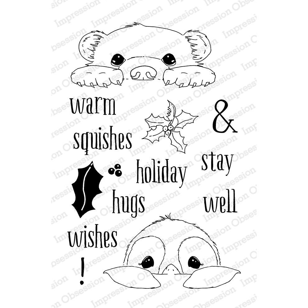 Impression Obsession Clear Stamps, Warm Wishes -