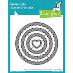 Reverse Stitched Scalloped Circle Windows, Lawn Cuts Dies - 352926713480