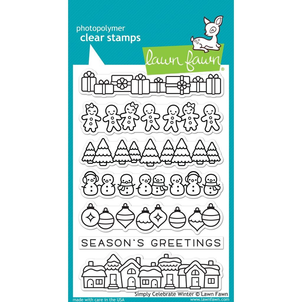 Simply Celebrate Winter, Lawn Fawn Clear Stamps - 352926710274