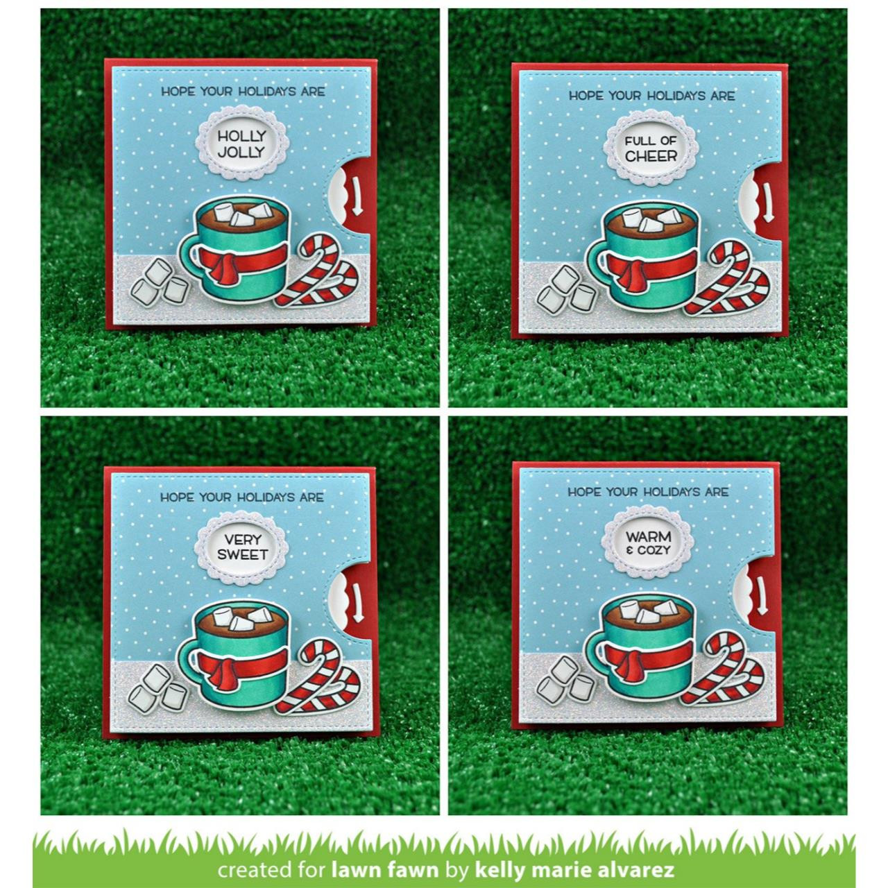 Reveal Wheel Holiday Sentiments, Lawn Fawn Clear Stamps - 352926710588