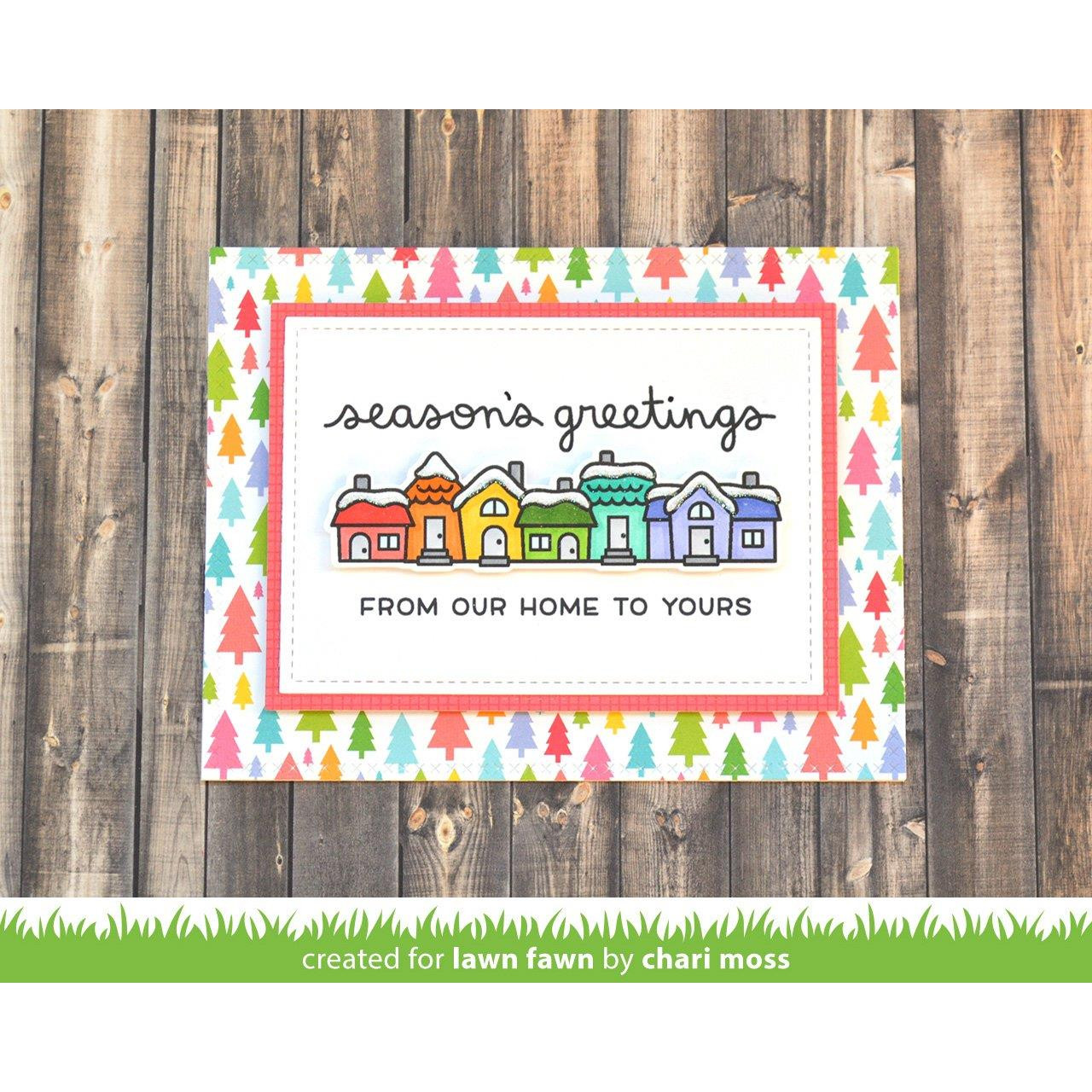 Winter Scripty Sentiments, Lawn Fawn Clear Stamps - 352926710656