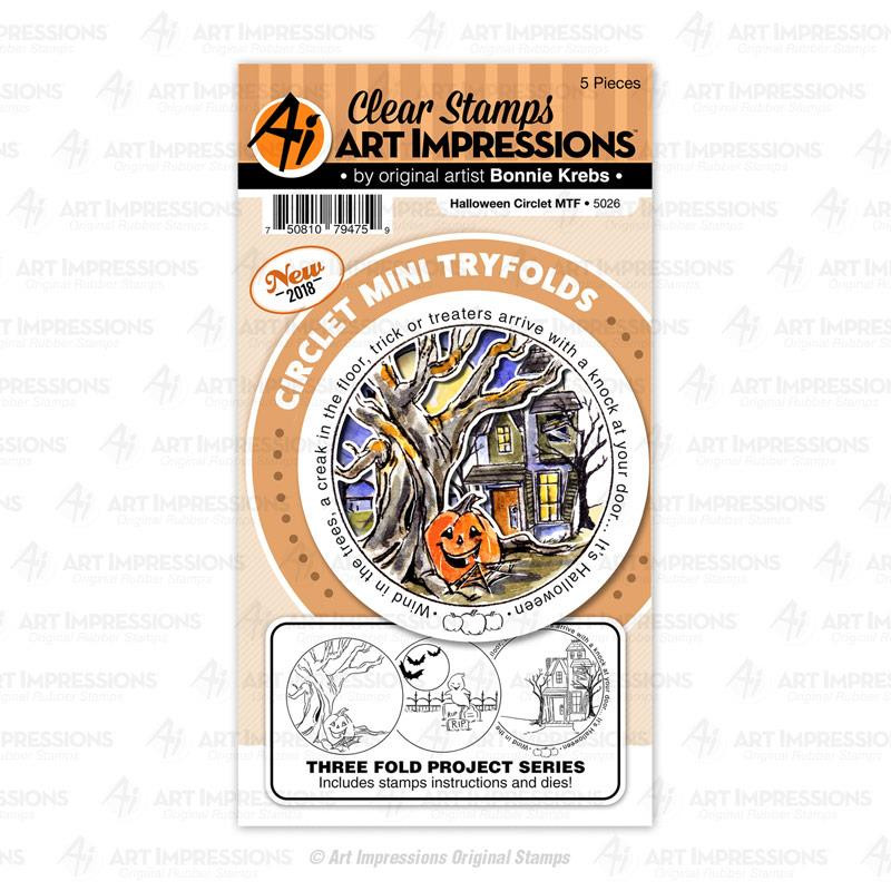 Circlet Mini Tryfolds - Halloween, Art Impressions Clear Stamps - 750810794759