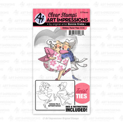 Oldies Twist Ties, Art Impressions Clear Stamps - 750810794865