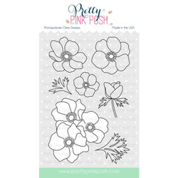 Anemones, Pretty Pink Posh Clear Stamps -