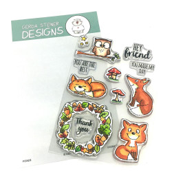 Foxes, Gerda Steiner Designs Clear Stamps -