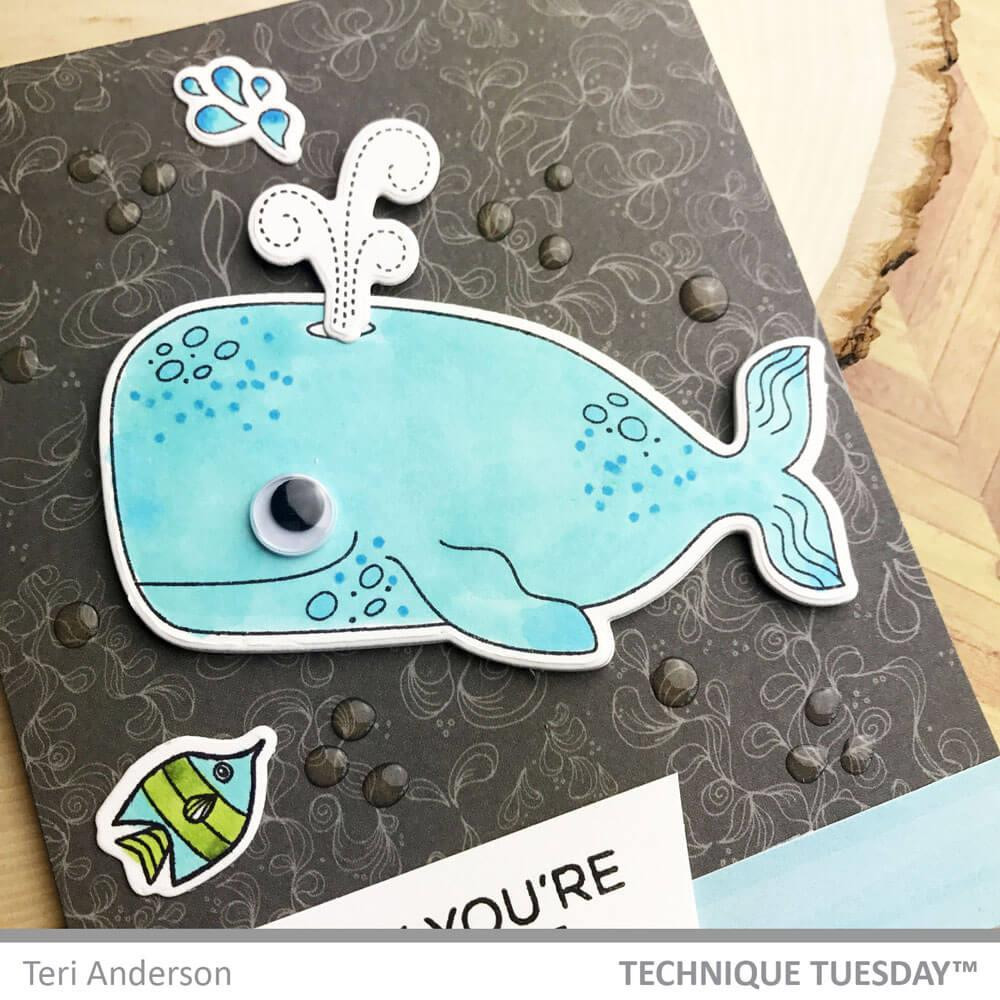 Wendell The Whale - Animal House September 2018, Technique Tuesday Clear Stamps - 811784027080
