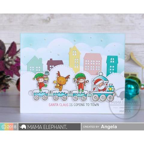 Little Agenda Trains, Mama Elephant Clear Stamps -
