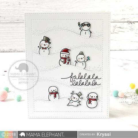 Little Snowman Agenda, Mama Elephant Clear Stamps -