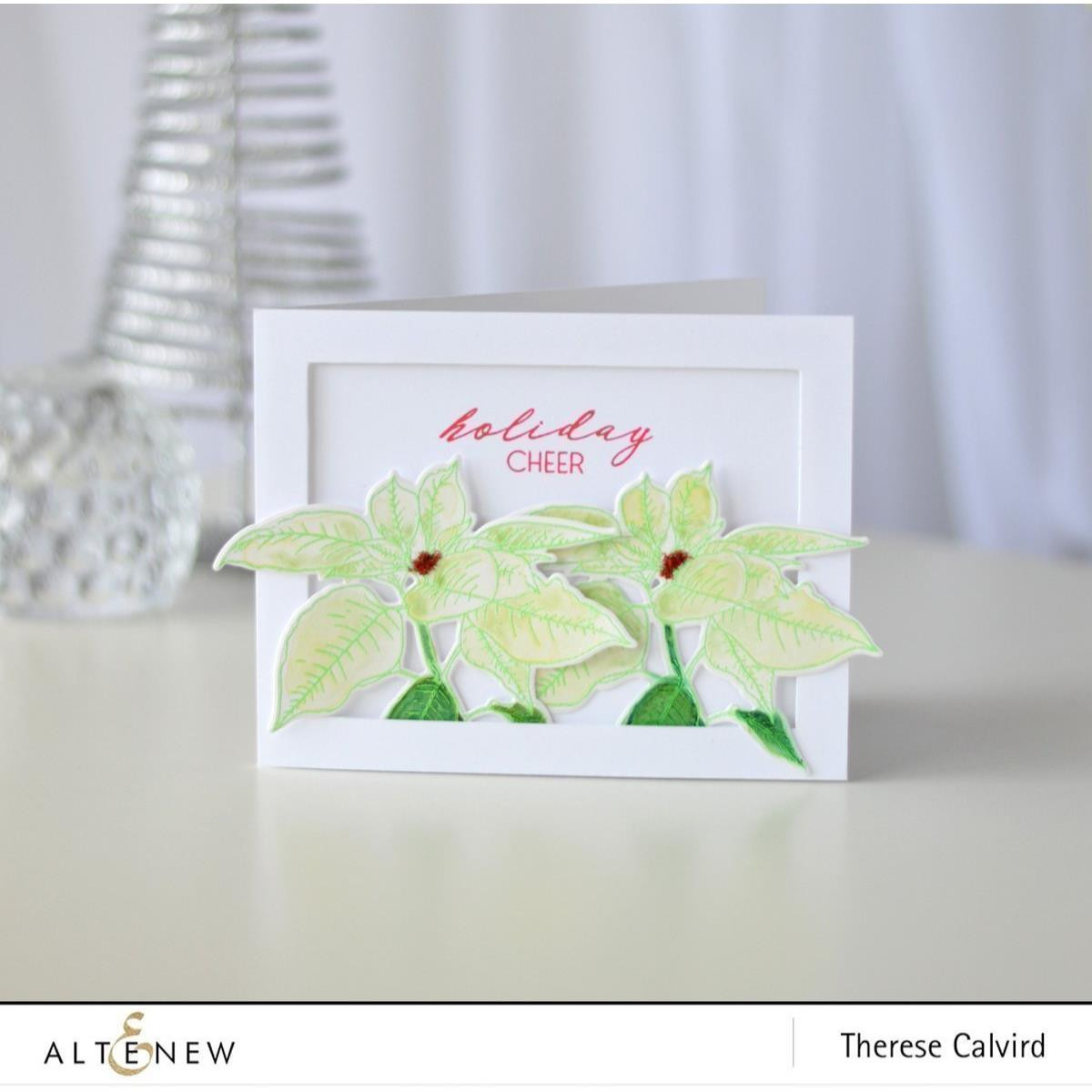 Festive Poinsettia, Altenew Clear Stamps - 655646173122